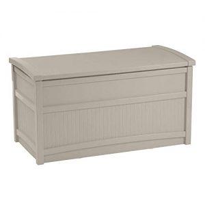 Suncast 50-Gallon Medium Deck Box - Lightweight Resin Indoor/Outdoor Storage