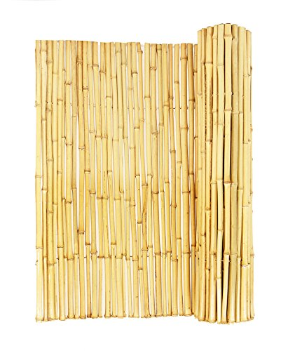 Backyard X-Scapes Natural Rolled Bamboo Fence