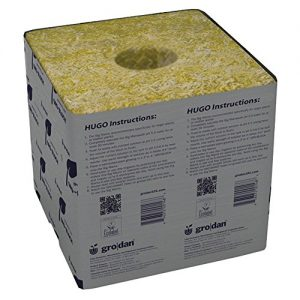 Grodan Wholesale Case GRO-Blocks Plant Containers Hugo with Hole