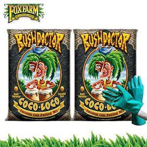 Fox Farm Bush Doctor Coco Loco Potting Soil, Coco Coir Soil Mix for Indoor