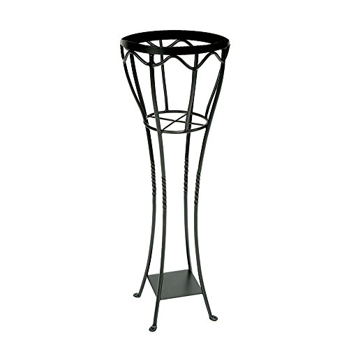Achla Designs VPS-04 Verandah Wrought Iron Displaying Pots, Metal Plant Stand