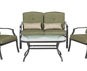 Backyard Classics Cypress 4-Piece Patio Seating Set with Sofa Chairs