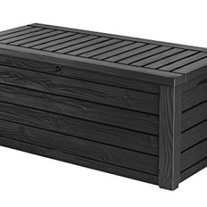 Keter Westwood 150 Gallon Resin Outdoor Storage Deck Box for Patio Garden