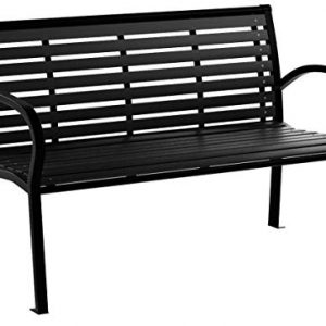 Festnight 3-Seater Outdoor Patio Garden Bench Porch Chair Seat