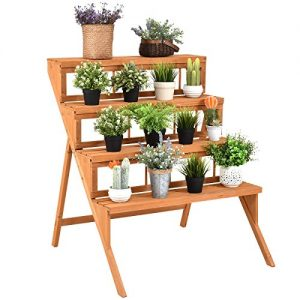 Giantex 4-Tier Plant Stand Flower Pot Holder Display Rack Stand