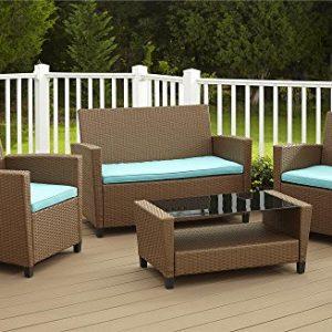 COSCO Outdoor Living 4 Piece Malmo Resin Wicker patio Set