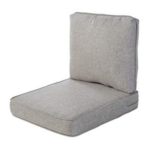 Quality Outdoor Living Chair Cushion, 22 x 25, Grey