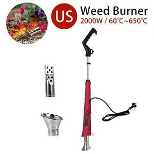 settlede Electric Weed Burner 2000W, Weed Killer, Thermal Weeding Stick