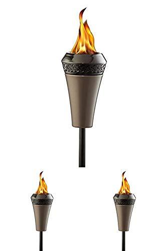 Tiki Brand 66-inch Island King Large Flame Torch Gunmetal Finish
