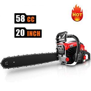 """CHAKOR 58CC Chainsaw, 20"""" Gas Chainsaw, 2 Strokes 3.5HP Gas Powered Chainsaw"""