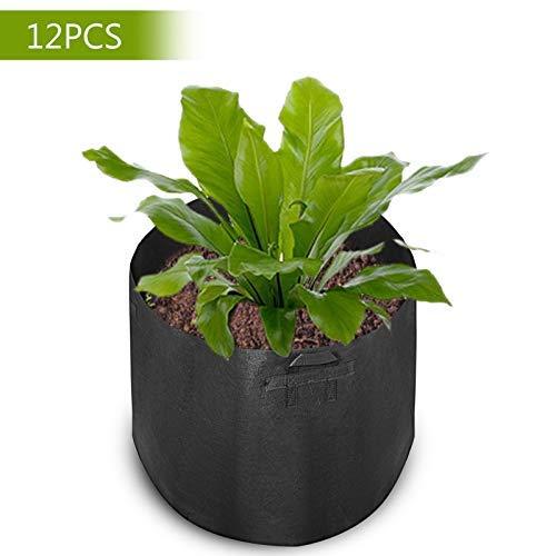Mophorn 12-Pack 45 Gallon Plant Grow Bag Aeration Fabric Pots