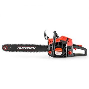HUYOSEN Gas Power Chain Saws Corded 54.6CC 2 Cycle Gas Powered Chainsaw