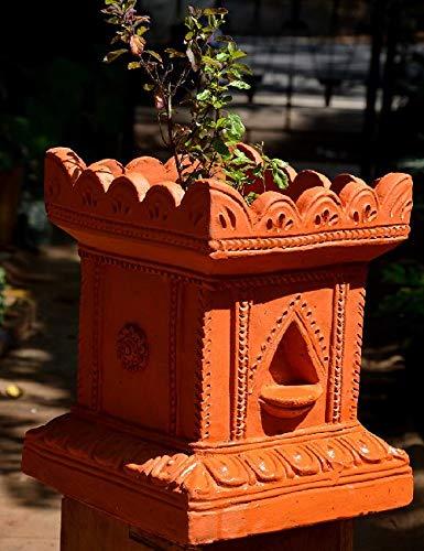 Village Decor Handmade Terracotta Clay Gardening/Brindavan Tulasi