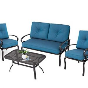 Oakmont Outdoor Patio Furniture Conversation Set Loveseat, 2 Chairs
