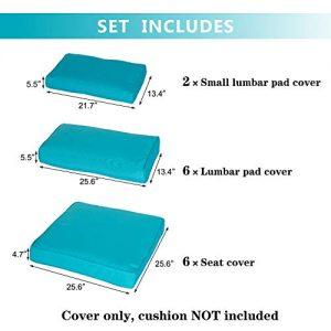kinbor Patio Wicker Furniture Sectional Sofa Seat Rattan Patio Seating Cushion