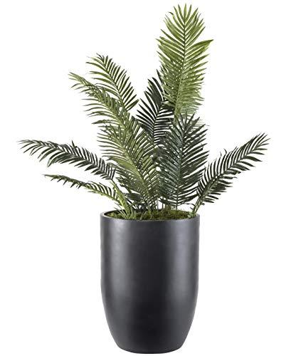 """Bell Planter - 24"""" Diameter x 33"""" Tall - Fiberglass Planter Pot - Black"""