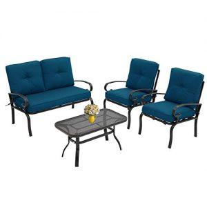 Incbruce 4Pcs Outdoor Indoor Patio Furniture Conversation Set