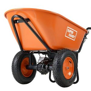 SuperHandy Ultra Duty Electric Powered Wheelbarrow Utility Cart 24V DC 180W