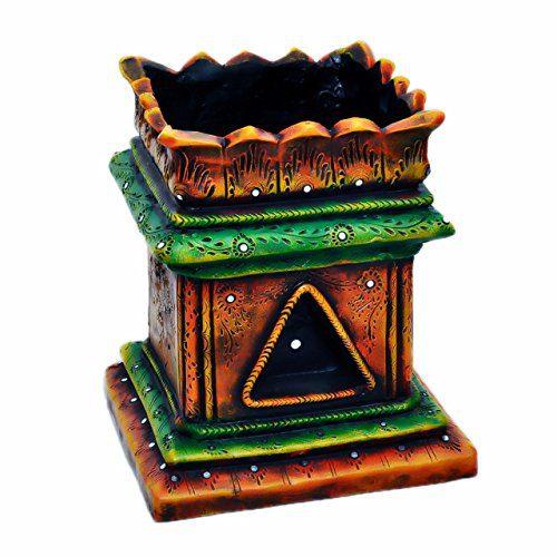 Handmade Terracotta/Clay Brindavan/Tulasi/Tulsi Pot/Tulsi Plant Container Indoor