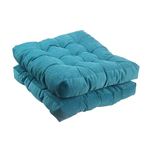 Solid Papasan Patio Seat Cushion Square Chair Pad Home Floor Cushion 22 Inch Set
