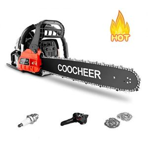 """Oveloxe Gas Chainsaw, 58CC 20"""" Chainsaw with 2 Stroke Handed Petrol Chain Saw"""