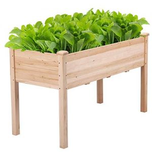 Yaheetech Wooden Raised/Elevated Garden Bed Planter Box Kit for Vegetable/Flower