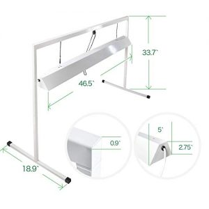 iPower 4 Feet 2-Bulb T5 Fluorescent Grow Light Stand Rack for Seed Starting Plant
