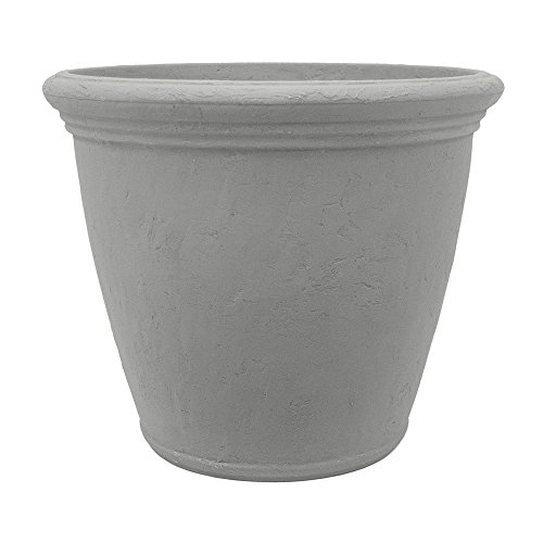 Garden by Artech 24in. Resin Barcelona Planter in Grey Stone
