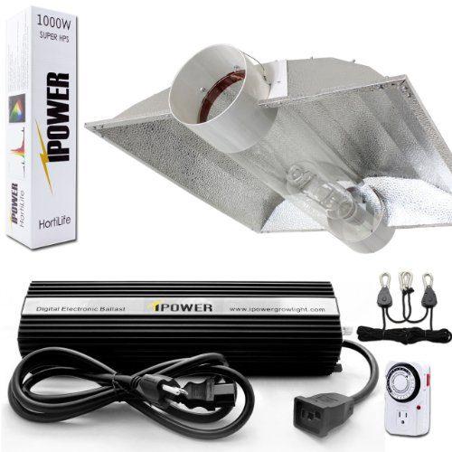 iPower Horticulture 1000 Watt HPS Bulb Digital Dimmable Ballast Grow Light