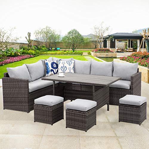 Wisteria Lane Patio Furniture Set,7 PCS Outdoor Conversation Set