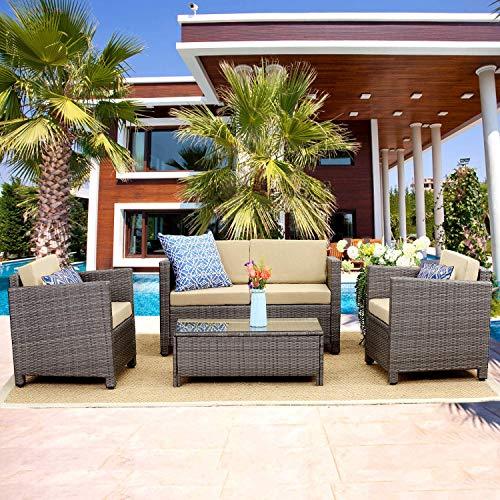 Wisteria Lane Outdoor Patio Furniture Set,5 Piece Conversation Set