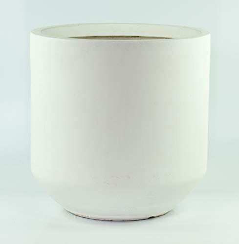 """UPshining Fiber Clay White Extra Large 16"""" Planter/Cylinder Pot/Mid"""