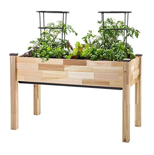 "CedarCraft Self-Watering Elevated Cedar Planter (22"" x 48"" x 30"" H)"