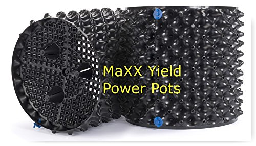 "MaXX Yield""Power Pot"" 6 Pack! of 5 Gallon Equivalent Air Root Pruning Flower Pots"