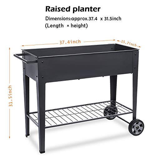 Raised Planters On Legs: Raised Planter Box With Legs Outdoor Elevated Garden Bed
