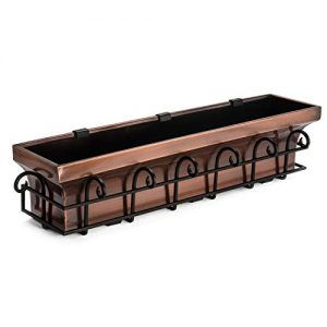 H Potter Window Planter Box Copper Outdoor Flower Plant Container