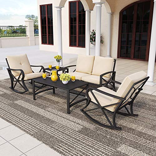PatioFestival 5 PCS Metal Patio Furniture Conversation Set