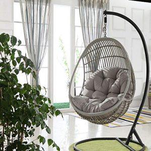 leveraYo Swing Hanging Basket Seat Cushion,Thicken Hanging Egg Hammock Chair
