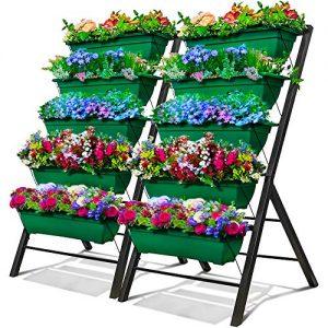 4-Ft Raised Garden Bed - Vertical Garden Freestanding Elevated Planters