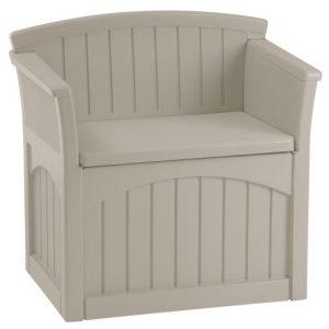 Suncast 31-Gallon Medium Deck Box Seat - Lightweight Resin Indoor/Outdoor