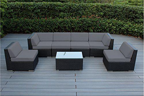 Ohana 7-Piece Outdoor Patio Furniture Sectional Conversation Set
