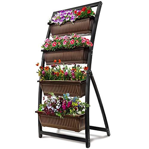 6-Ft Raised Garden Bed - Vertical Garden Freestanding Elevated Planter
