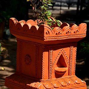Village Decor Handmade Terracotta Clay Gardening/Brindavan Tulasi/Tulsi