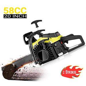 dessen 58CC Chainsaw 20 Inch, 3.5HP 2 Stroke Gasoline Powered Handheld