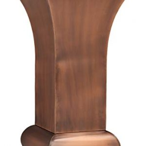 H Potter Tall Planter Large Outdoor Copper Pots Indoor for Outside Patio Deck