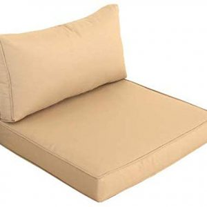 Outime Indoor/Outdoor 2pcs Khaki Cushions Set,Rplacement Cushions