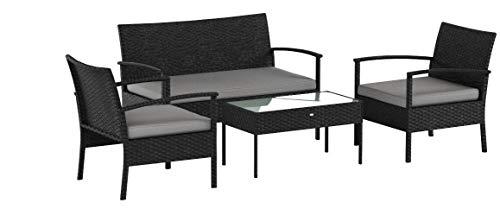 Oakside Small Patio Furniture Set Outdoor Wicker Porch Furniture Loveseat