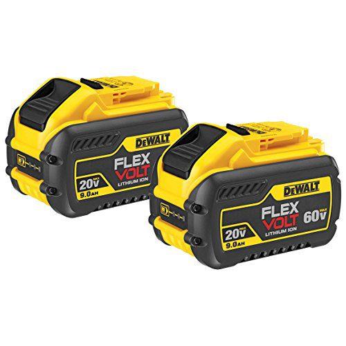 DEWALT 20V/60V MAX FLEXVOLT 9Ah Battery, 2 Pack