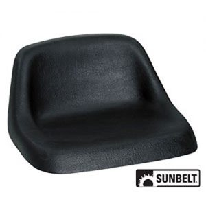 A & I Lowback Universal Lawn Mower Seat - Black, Model Number
