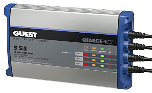 Guest ChargePro On-Board Battery Charger 15A / 12V, 3 Bank